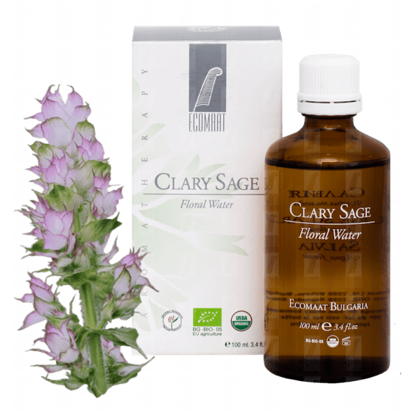 Organic Clary sage floral water Ecomaat